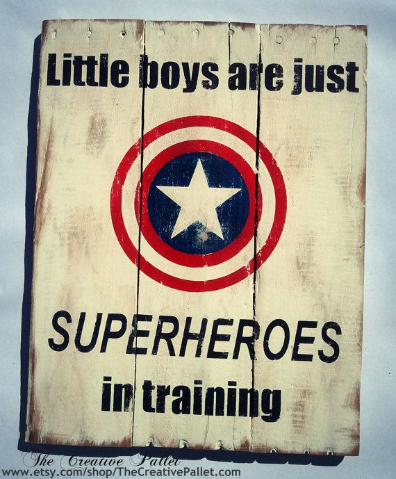 Superhero Sign Vintage Pallet Wood Sign by TheCreativePallet, $48.00