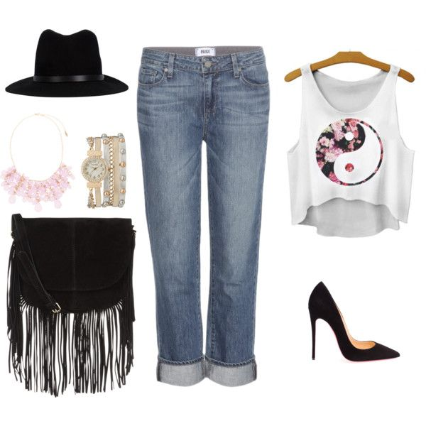 Summer Vacation by letsplaydiy on Polyvore featuring Paige Denim, Christian Louboutin, Accessorize, maurices, Natasha Accessories and rag & bone