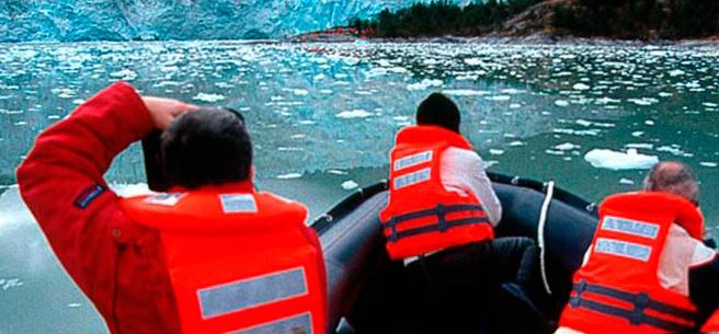 Cruceros Australis - Zodiac excursion.  #travel #cruise #SouthAmerica #Patagonia