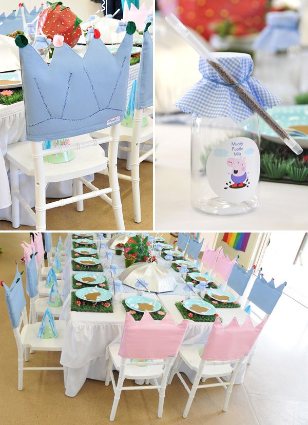 Playful  Sunny Peppa Pig Themed Birthday Party // Hostess with the Mostess®