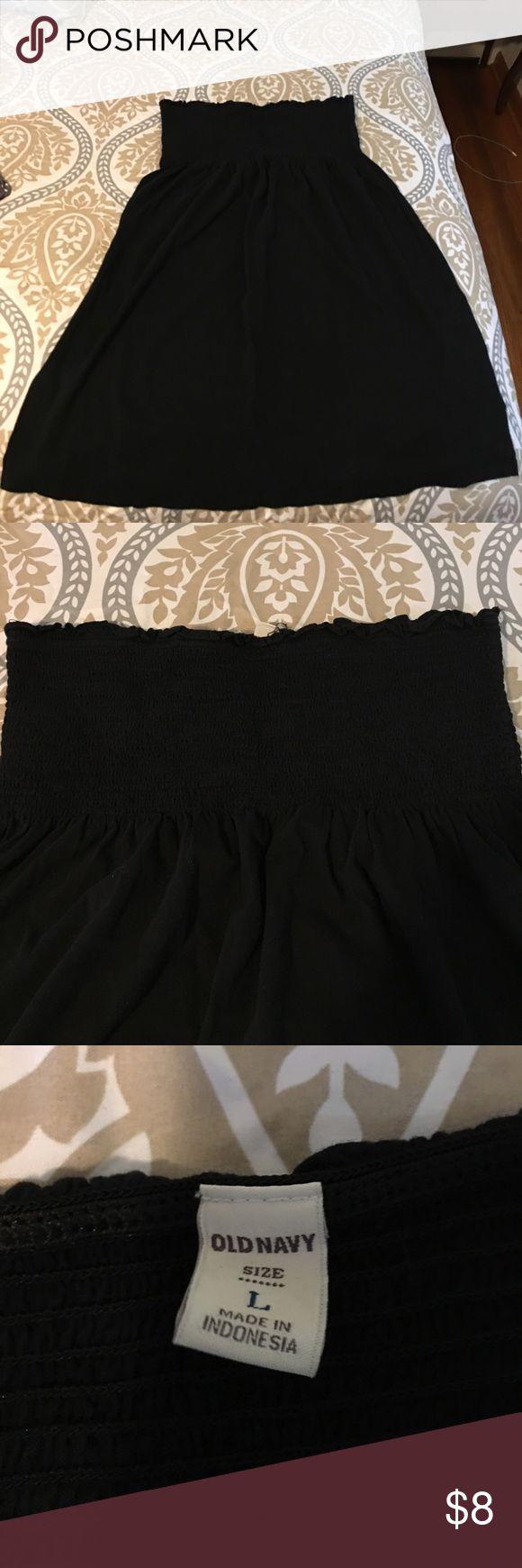 Swim suit dress Black bandeau top swim suit cover up, never worn, perfect condition! Old Navy Swim Coverups