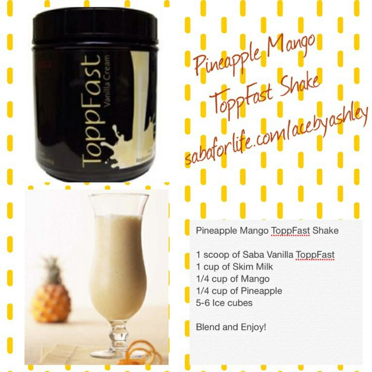 Pineapple Mango ToppFast Meal Replacement Shake! Join me on the Saba 60! www.joniloehr.sababuilder.com