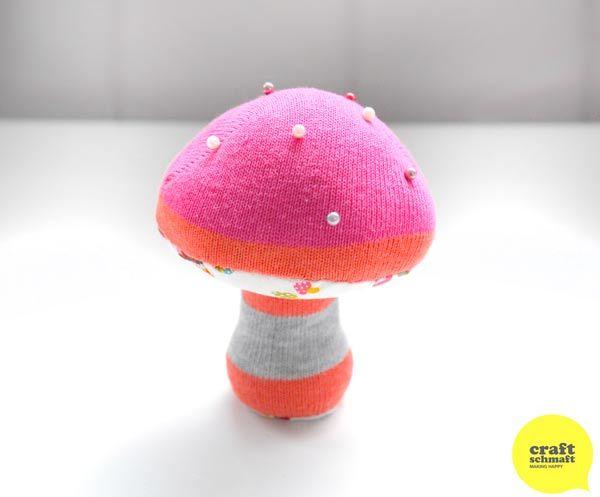 DIY : le porte épingle champignon