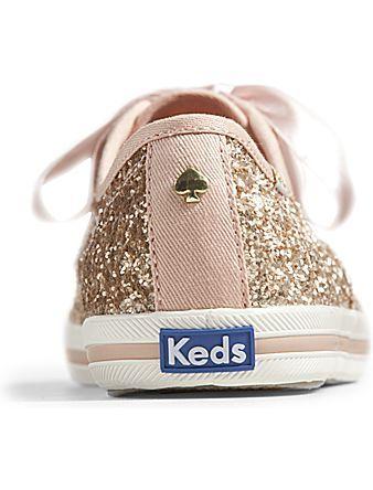 Keds x kate spade new york Champion Glitter - Rose Gold Glitter   Keds