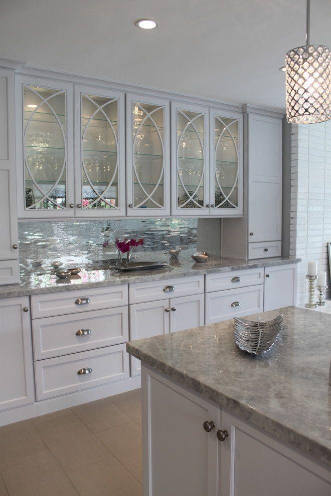 mirrored tiles backsplash kitchen white kim kardashian kris jenner style glamorous better deocrating bible blog home