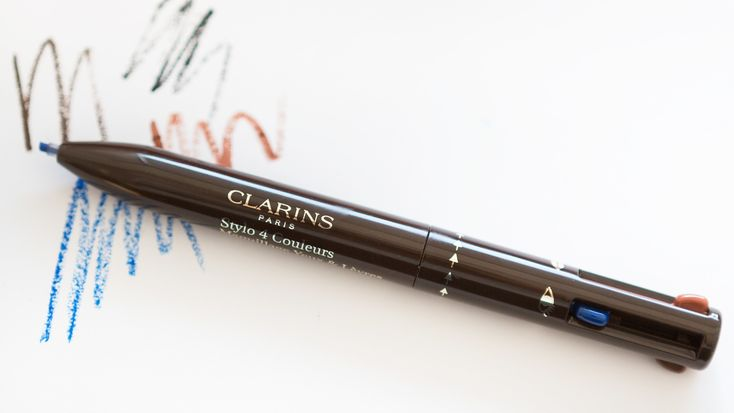 Remember those four-color retractable pens that helped you take rainbow notes in social studies class? Well, the Clarins 4-Colour All-in-One Pen is the adult version of that.