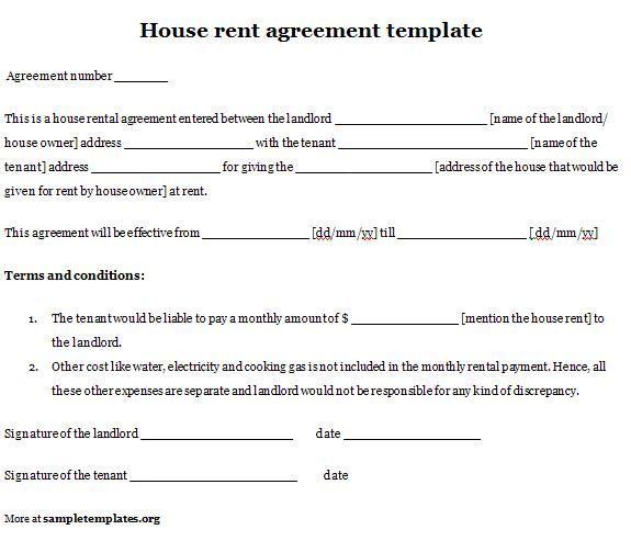 Printable Sample Simple Room Rental Agreement Form Room Rental