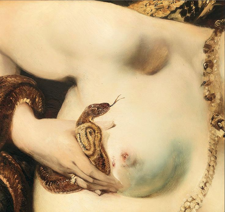 Hans Makart, The Death of Cleopatra (detail) 1875
