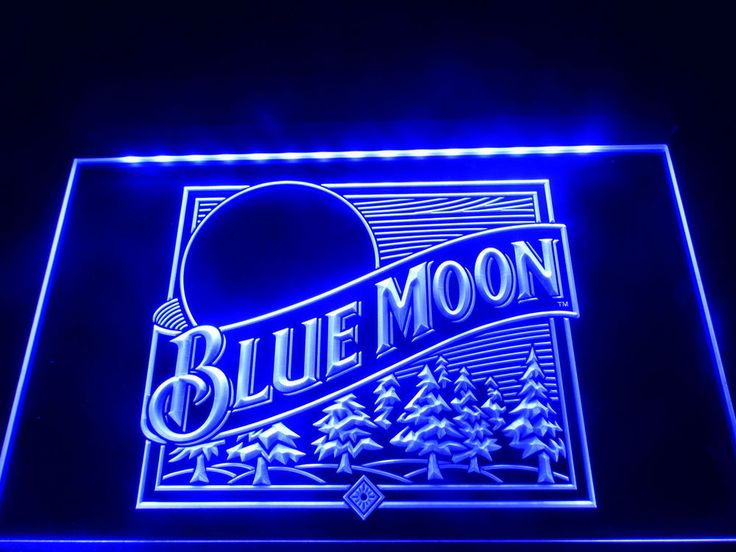 LE167- Blue Moon Beer Bar Pub Logo LED Neon Light Sign home decor crafts