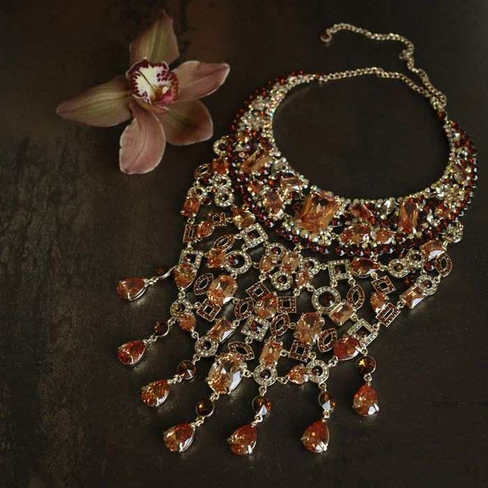 Queen of the Foxes Empress Necklace in Sumptuous Gold
