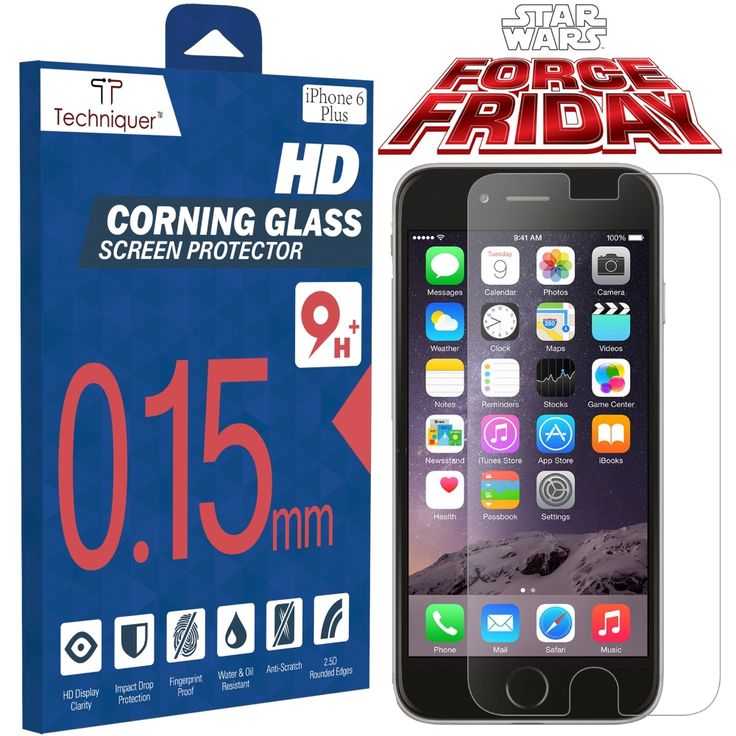 iPhone 6 Plus Screen Protector - Force Friday http://www.amazon.com/Corning-Gorilla-Tempered-Protector-Thinnest/dp/B00RK7OPZC #iphone6plusscreenprotector #techniquer