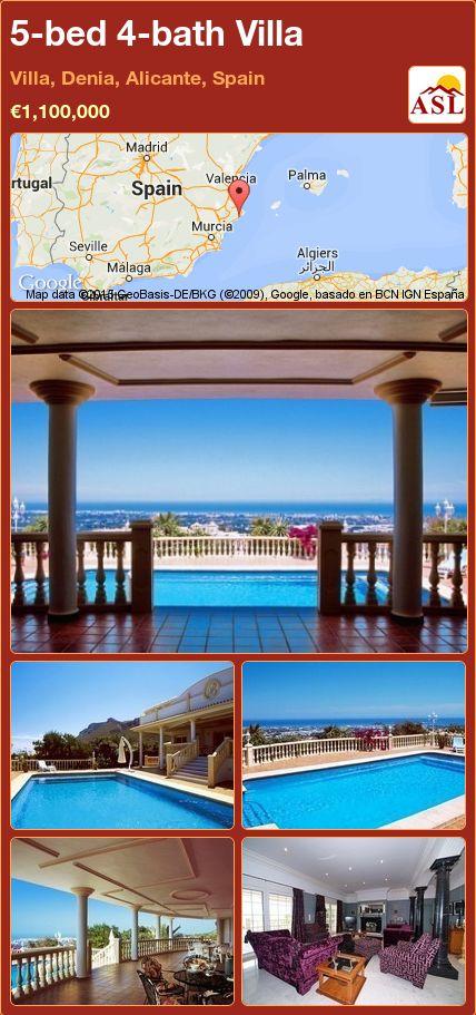5-bed 4-bath Villa in Villa, Denia, Alicante, Spain ►€1,100,000 #PropertyForSaleInSpain