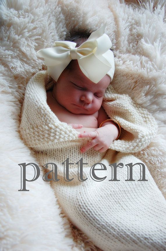 Two Knitting Patterns PDF for Swaddle Cocoon by LuckyDuckBabyKnits, $7.00