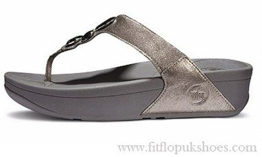 Womens Fitflop Lunetta Grey Sandals Online Sale