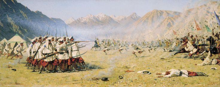 Vasily Vasilievich Vereshchagin - Surprise Attack - 1871 | Flickr - Photo Sharing!