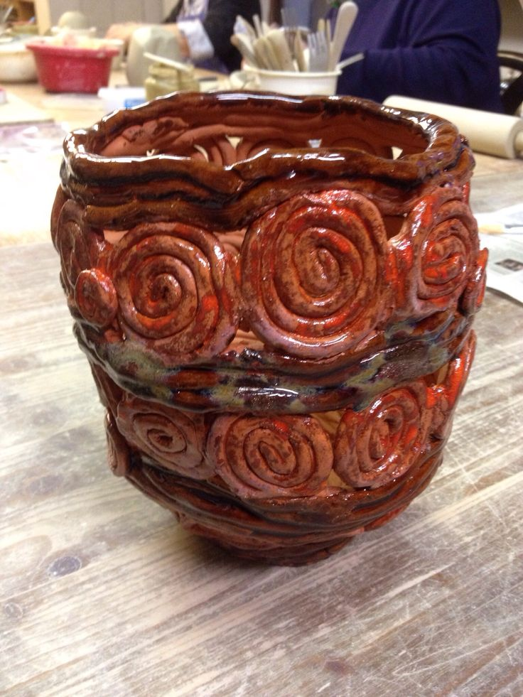 Paperclay-Arbeit - Sommer 2013 - Keramik - Ceramic - Ton - Windlicht - Dekoration - getöpfert - Pottery