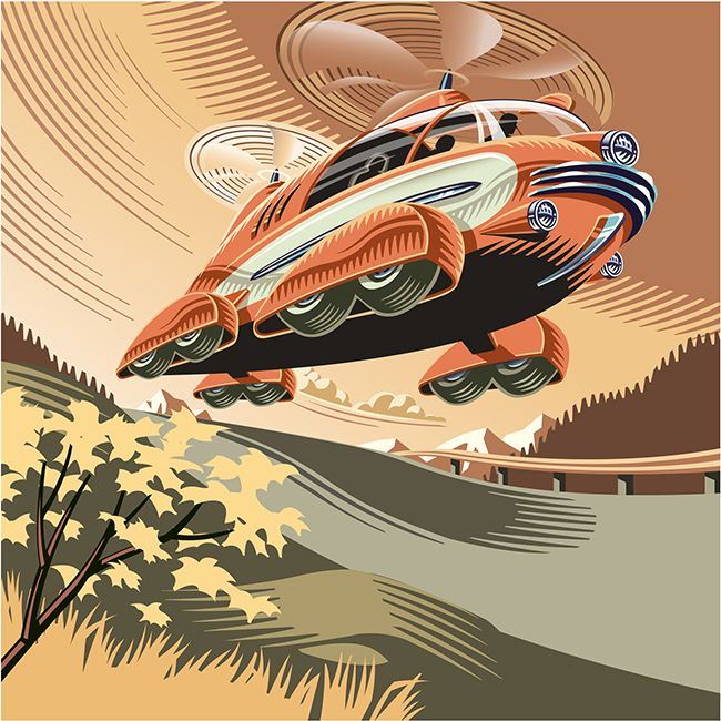 Car of the future by ©Gary Alphonso, represented by i2iart.com #i2iart