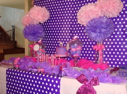 Pink and purple birthday party!