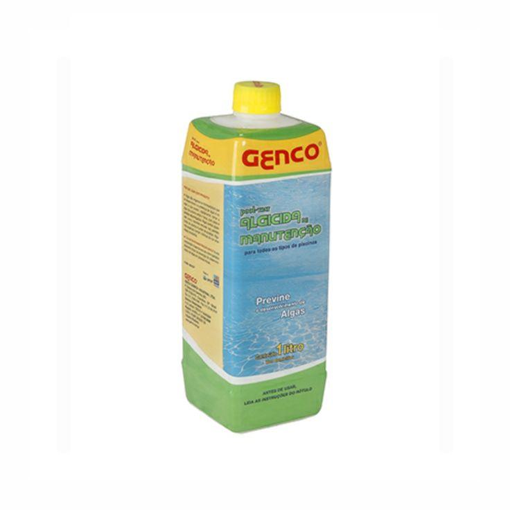Algicida de Manutenção 1l Pool-Trat Genco. Algas são organismos microscópicos que se desenvolvem na presença de água e luz solar e que podem, rapidamente, tornar a água da piscina verde e turva