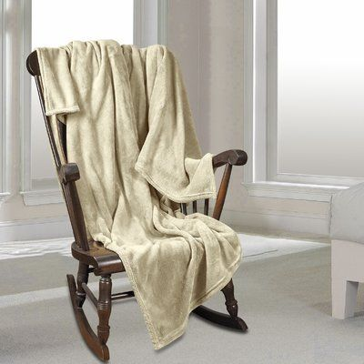 Red Barrel Studio Al Ultra Cozy Warm Polar Fleece Blanket Size: Twin, Color: Cream