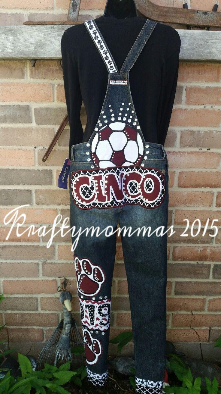 #homecomingoveralls #handmade #katy #Texas #kraftymommas www.KraftyMommas.blogspot.com #soccer