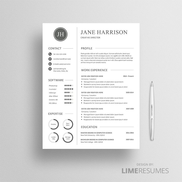 8 best Well crafted resume templates images on Pinterest | Cv ...