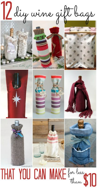 12 DIY Wine Gift Bags (that you can make for less than $10!) - All Cheap Crafts