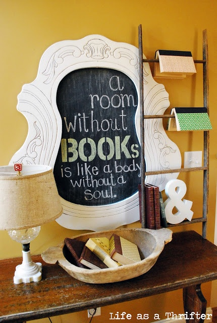 Display books on ladder >> Life as a Thrifter