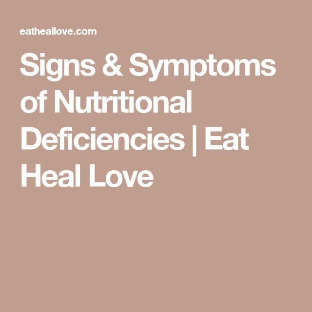 Signs & Symptoms of Nutritional Deficiencies | Eat Heal Love