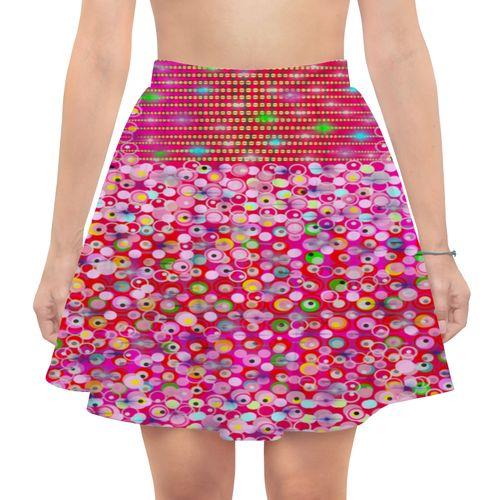 Юбка в складку - наилучший наряд в летний день! Ткань легкая, струящаяся, дизайн на нее наносится совершенным образом. Юбка в складку,длинной выше коленей, идеально садится на талии. Приятная на ощущения ткань не нуждается в особом уходе, поэтому такая юбка в складку очень практична в носке. Приобрести: