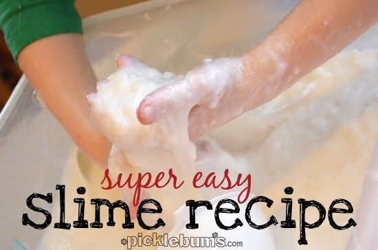 super easy slime recipe from picklebums