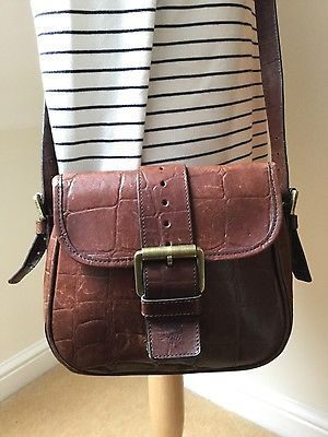 Vintage Mulberry Brown Congo leather Matilda cross body shoulder saddle bag