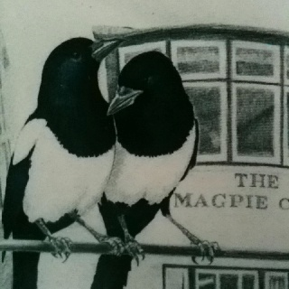 Magpies - Chip box from The Magpie Cafe, Whitby