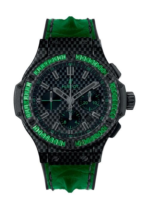 Big Bang Carbon Bezel Baguette Tsavorites 44mm Chronograph watch from Hublot