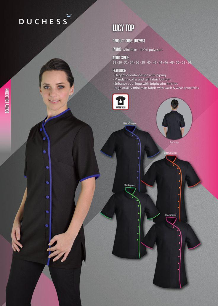 7 best beauty salon uniforms images on pinterest beauty for Spa uniforms johannesburg