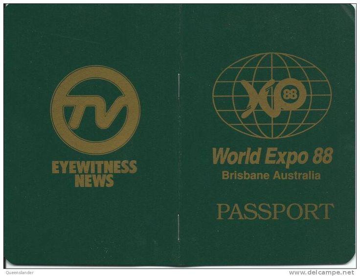World Expo 88 - passport