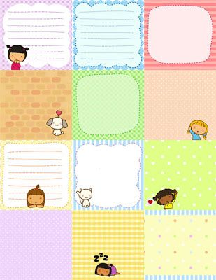 Free Printable:Cute Pigtails Notes   Free Download Cute Printables Template