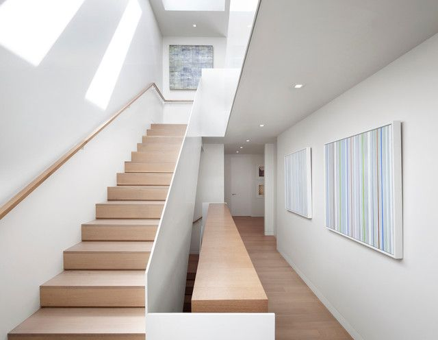 modern staircase by Design Line Construction, Inc.