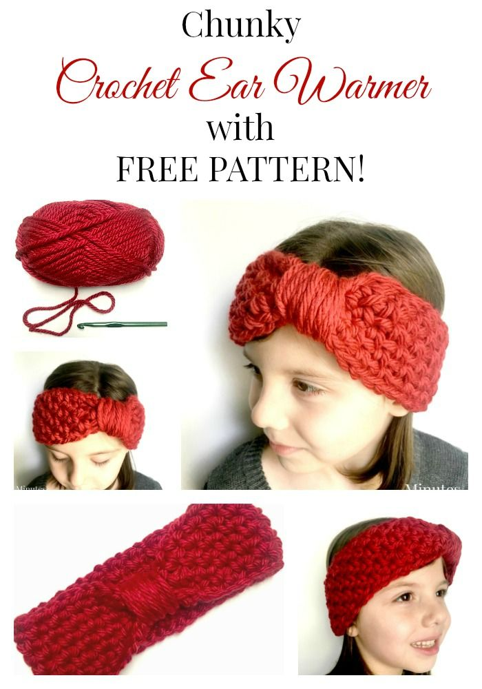 Chunky Crochet Ear Warmer with FREE PATTERN | Crochet[: | Pinterest ...