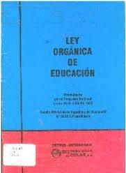 Ley organica del Ministerio de Educación Pública