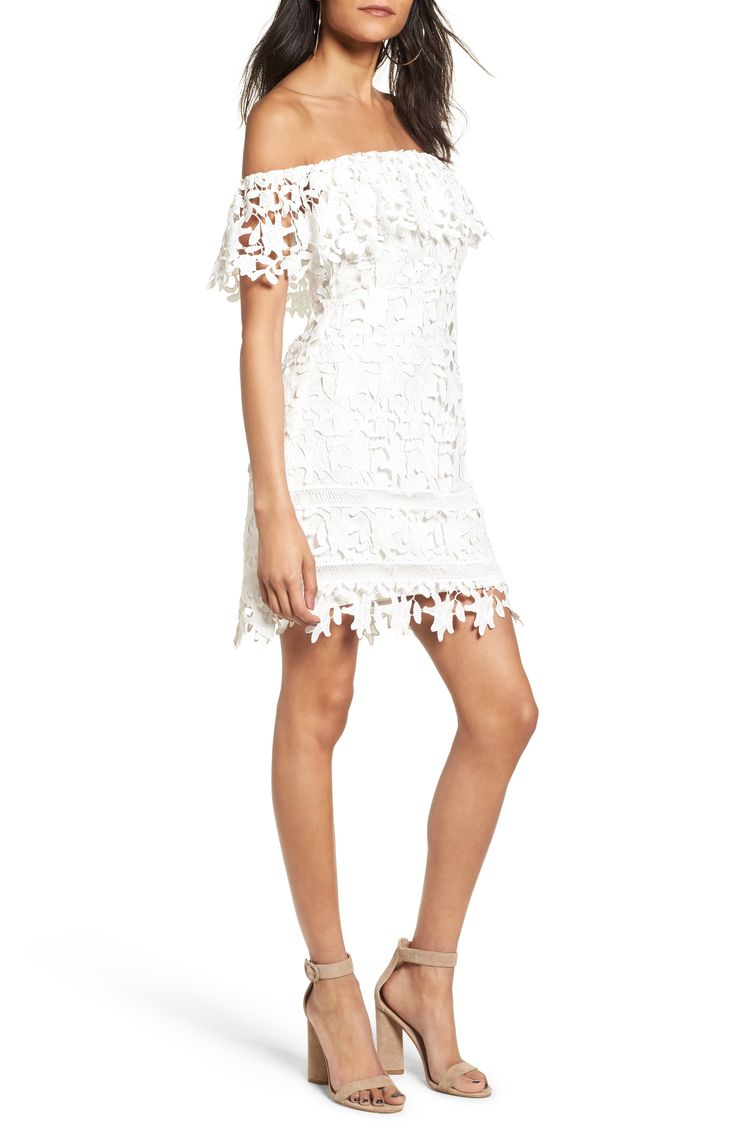 Off the Shoulder Lace Minidress