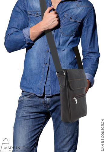 Daniele Collection | Italian Leather Messenger Bags for Men | Handmade, Cross body or on the Shoulder Leather Bags  | Made in Italy Accessories https://madeinitalyaccessories.com/bags-for-men