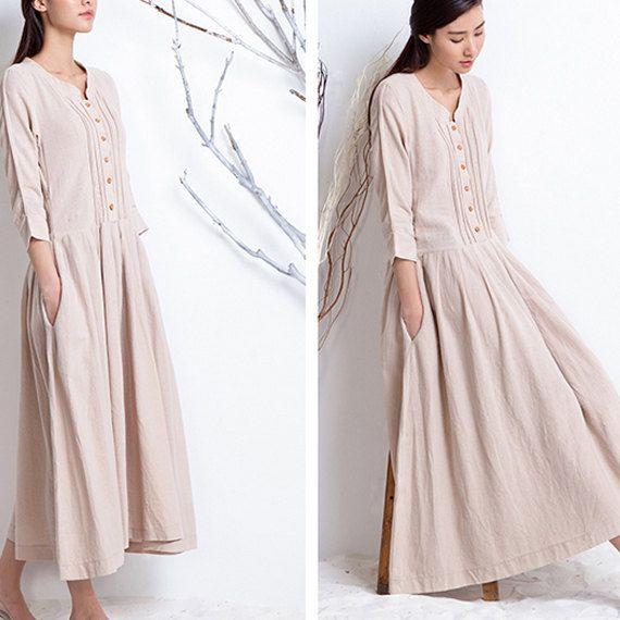 Women spring dress/ long dress/ casual dress D1022 by Roniaz