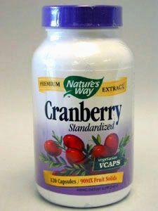 Natures Way- Cranberry extract 120 vegcaps