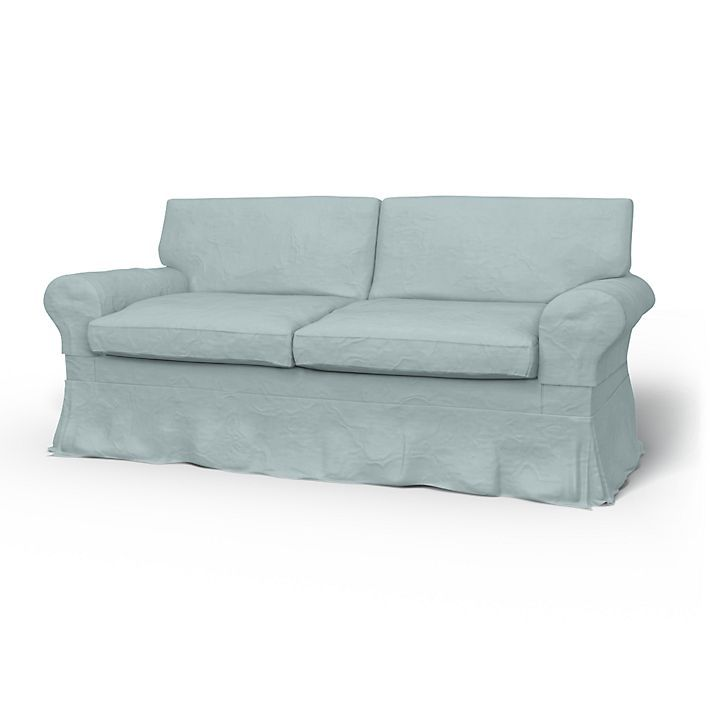 Ektorp, Sofa Covers, 2 Seater Sofa Bed, Loose Fit Country using the fabric Brera Lino Duck Egg