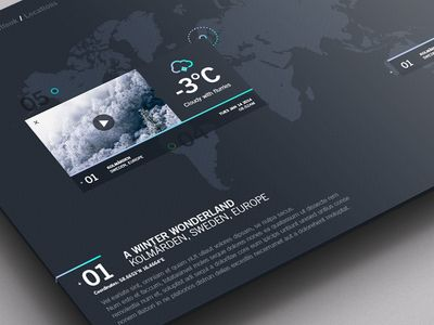Dribbble - Weather Dashboard / Global Outlook / Locations 2 by Jonathan Quintin