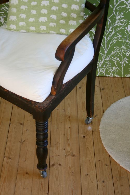 Delightful Adding Wheels To An Old Chair...cool Idea For A Unique Office Chair