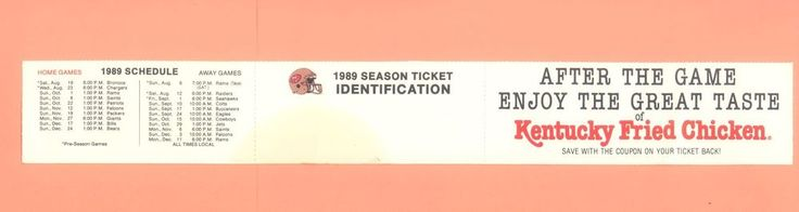 san francisco 49ers 1989 season ticket holder #NFL schedule super bowl ex cond. from $21.0