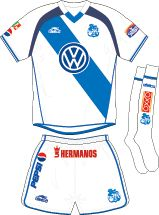 Puebla FC of Mexico home kit for 2003-04.