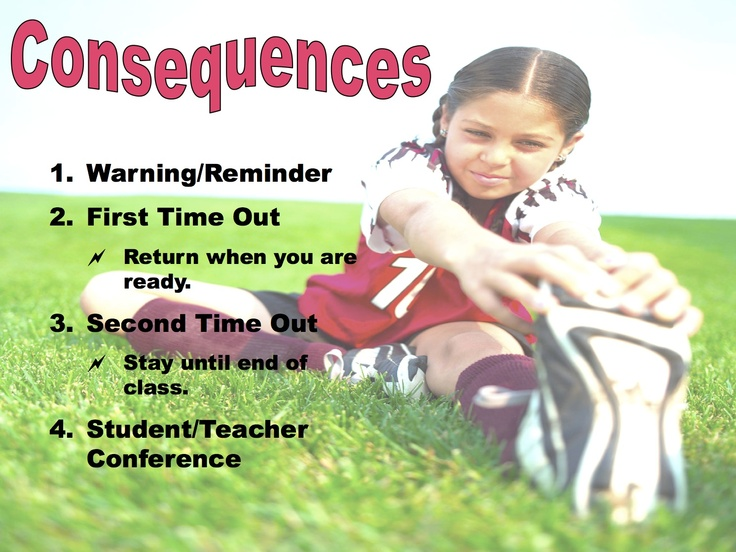 Simple Procedures for Behavior Expectation in PE. Rules & Consequences for any age group.